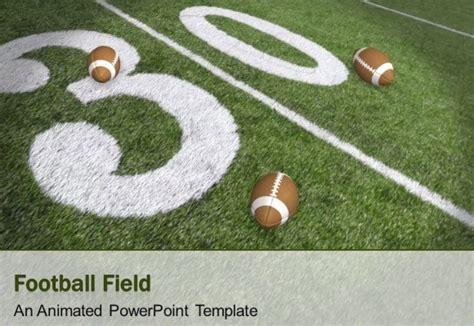 football themed powerpoint 2007 animated football field powerpoint template