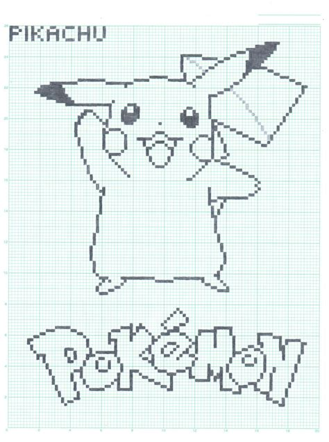 graph drawing pikachu graph paper ver by flamingsalad on deviantart