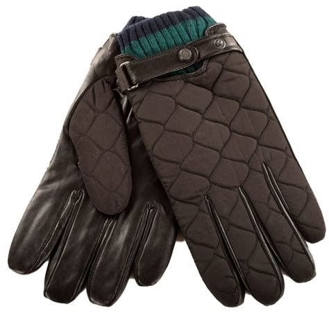 Mens Quilted Leather Gloves by Ted Baker Mens Quilted Black Leather Ted Baker Gloves