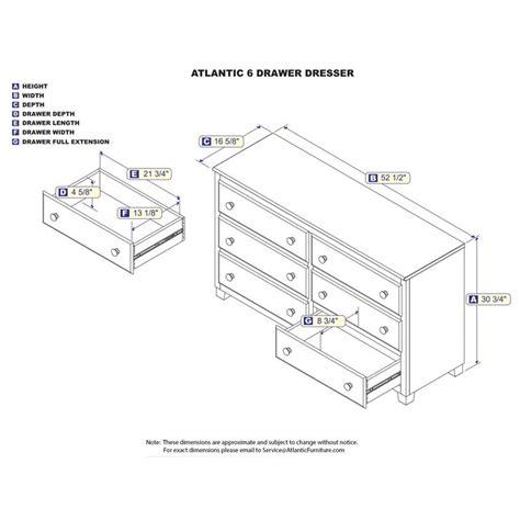 Dresser Drawer Dimensions by Dresser Drawer Dimensions Bestdressers 2017