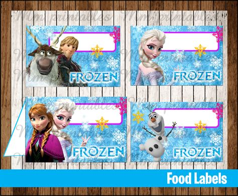 printable frozen table cards 80 off sale frozen food tent cards instant download