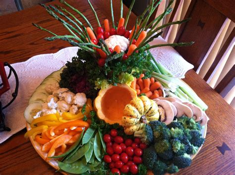 vegetable tray delectable veggies