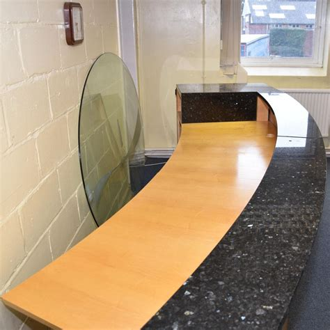 Large Reception Desks Maple Marble Large Reception Desk