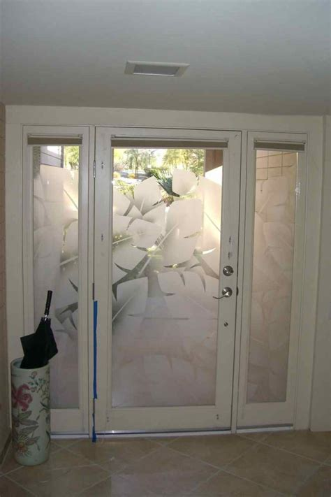 Frosted Glass For Front Door by Entry Glass Coordinated Etched Glass Doors Windows