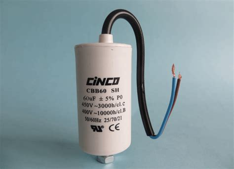 bypass motor run capacitor 60mfd 400v 450v ac cbb60c bipolar cable motor run capacitor cinco capacitor china ac