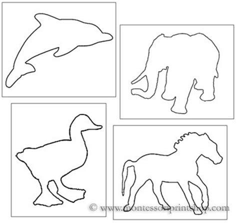 printable animal shapes pin poke animals printable montessori practical life lesson
