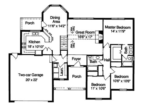 one level floor plans 1 story house plans one level home plans associated