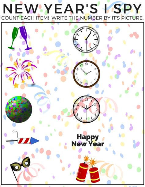 new year counting activities new years counting i activity for free printable
