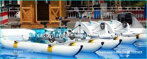 pedal bike boats for sale pvc kids inflatable pontoons water used sea pedal bike
