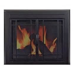 pleasant hearth easton fireplace glass door for masonry