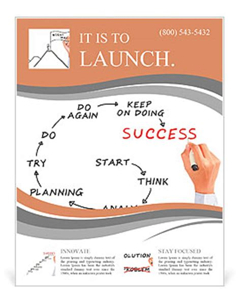 leaflet design meaning man drawing success meaning flyer template design id