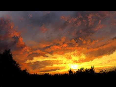 digital time lapse feature skyscape sunset digital painting time lapse
