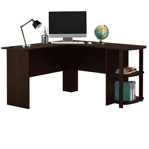 Office Desk Shelves Livivo L Shape Cherry Wood Office Computer Desk With Book