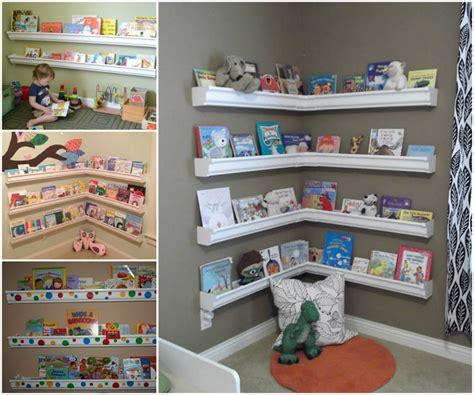diy gutter book shelves