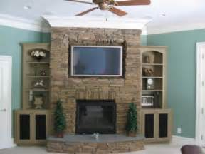 corner fireplace designs with tv above woodworking