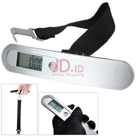Timbangan Bagasi Digital Electronic Travel Luggage Scale 50kg Wh A20 jual hostweigh ns 15 lcd mini carry electronic scale 50kg capacity luggage digital weighing