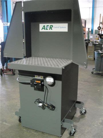 aer portable fume booth downdraft table