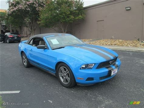 2010 mustang colors 2010 grabber blue ford mustang v6 premium convertible