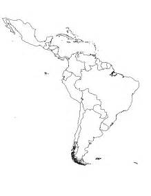 blank map of mexico central america and south america