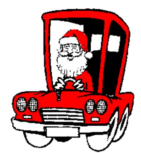 animated santa driving santa claus animated gifs gifmania