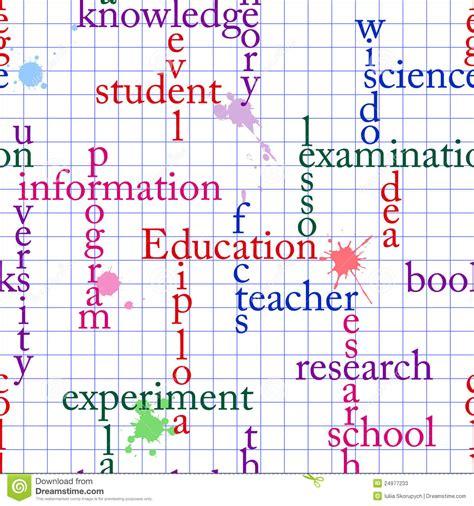 ed pattern words education seamless stock photos image 24977233