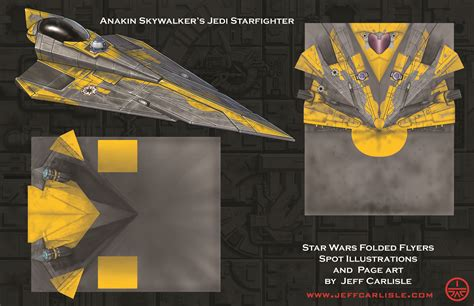 How To Make A Wars Paper Airplane - wars folded flyers anakin s jedi fighter spot
