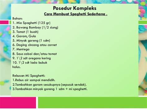 buat teks prosedur kompleks bahasa indonesia prosedur kompleks