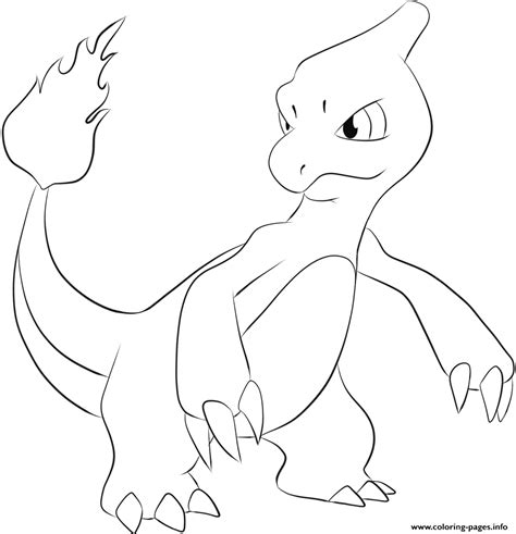 Jangmo O Coloring Page by Print 005 Charmeleon Coloring Pages