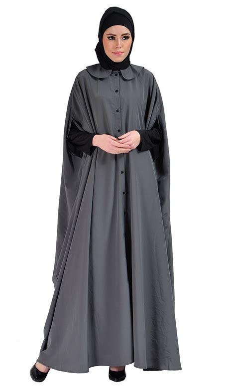 Cape Arab Vs cape jilbab dress grey