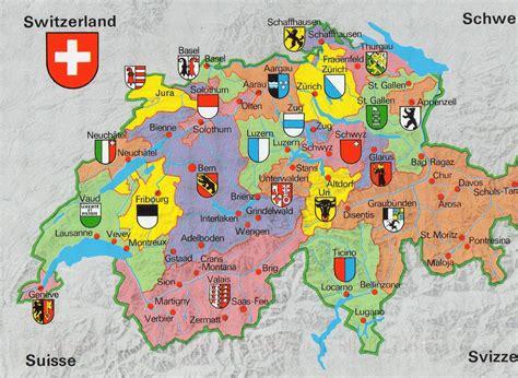 map of switzerland cities maps of switzerland