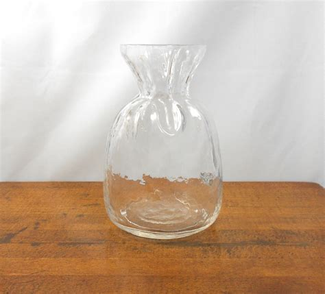 Handmade Glass Vase - vintage glass vase sea of sweden handmade glass vase
