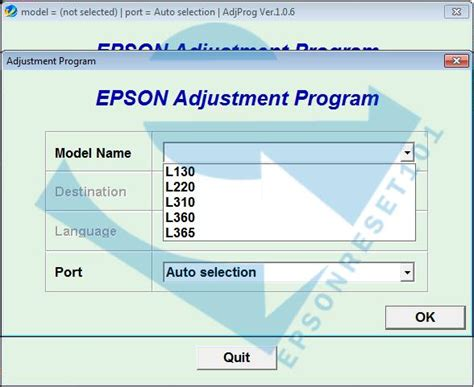download resetter t30 adjustment program reset impressora epson tx235w luzes
