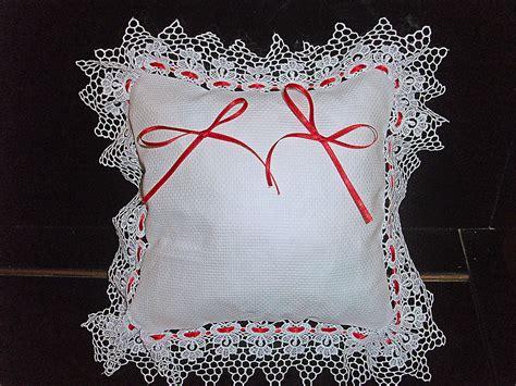 cuscino portafedi da ricamare cuscinetto portafedi ricamabile in tela aida con bordo in