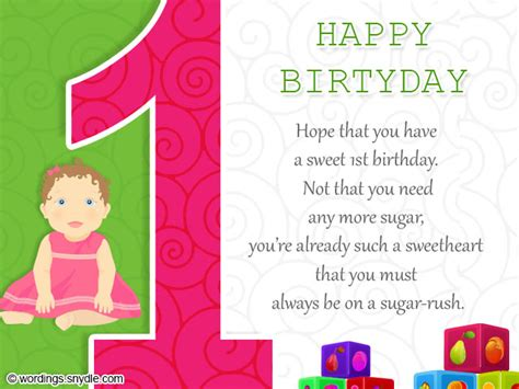 1st Birthday Cards 1st Birthday Wishes Wordings And Messages