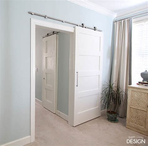 Modern Barn Doors An Easy Solution To Awkward Entries No Closet Doors