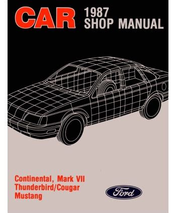 1987 lincoln continental and mark vii electrical troubleshooting manual original ebay 1987 ford mustang thunderbird lincoln continental mark vii mercury cougar body chassis