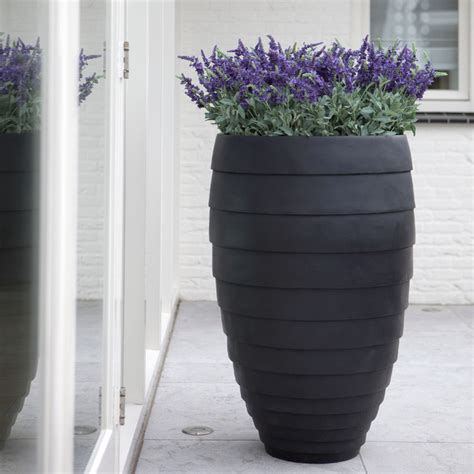 Fiberglass Planters by Authenteak Lightweight Fiberglass Planters Modern