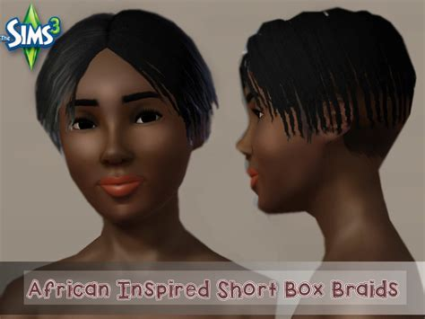 the sims 3 african twists african inspired short fade box braids set by the sims