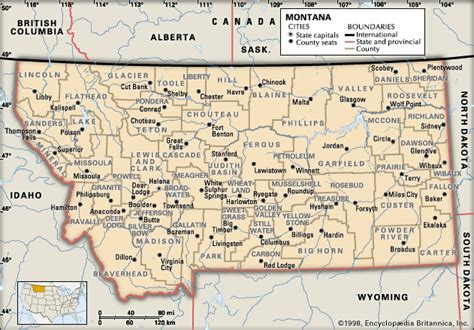 montana county map montana counties encyclopedia children s homework help dictionary