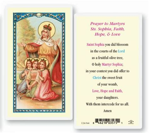 christian sts for card prayers to martyrs saints faith and