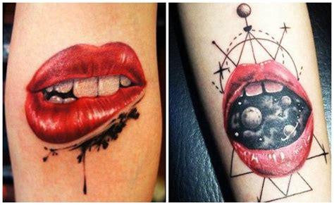 tatuajes de besos y tatuajes en forma de labios rojos