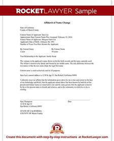 Certification Letter For Change Name affidavit of name change form one and the same person sample