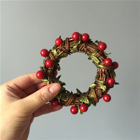diy craft materials package mini wreath creative christmas