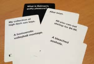 how to make cards against humanity hilarious cards against humanity answers thechive