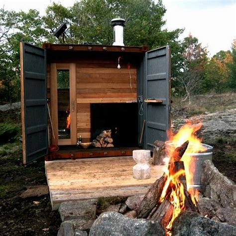 backyard steam room sauna box is a self contained steam room in a shipping