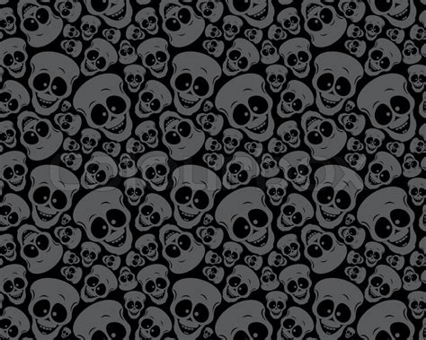 wallpaper pattern funny skulls stock vector colourbox