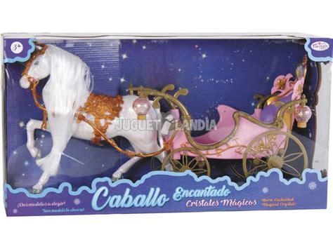 cavallo con carrozza cavallo magico criniera con carrozza rosa juguetilandia
