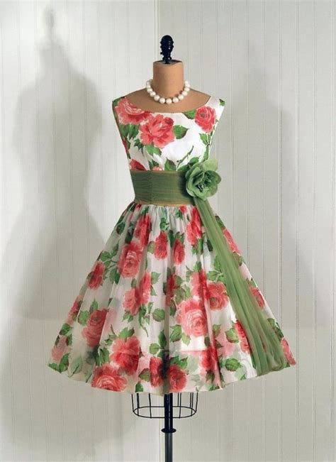 easter wear pinterest easter dress vintage 1950s pink roses floral dress with