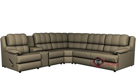 Large Reclining Sectional by Harlow Large Reclining True Sectional Sofa With Console By