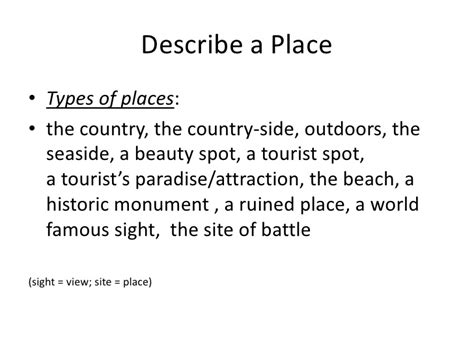 Describe A Place Essay Descriptive Essay